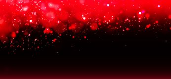 Dark red background with bokeh and sparks. royalty free stock image