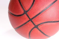 Dark red Basketball over white background. Basketball isolated royalty free stock photos