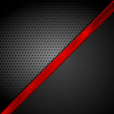 Dark red black tech abstract background Stock Photo
