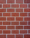 Dark red block brick wall Stock Image