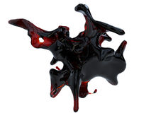 Dark red blood splash blob. Isolated on white background Royalty Free Stock Photography