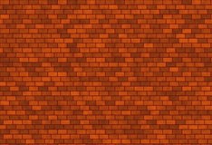 Dark red brick wall Stock Image