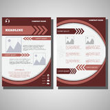 Dark red  Brochure Flyer design infographic size A4 Royalty Free Stock Photo
