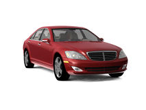 Dark red business class car Stock Images