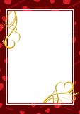 Dark red card with hearts - vector. Vector dark red card with hearts Stock Images