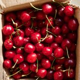 Dark red cherries in a day Royalty Free Stock Image