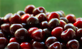 Dark red cherries Royalty Free Stock Images