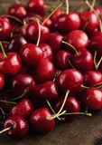 Dark red cherries Royalty Free Stock Photos
