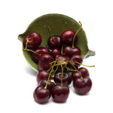 Dark red cherry isolated Royalty Free Stock Image