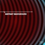 Dark red Circle stripes Vector abstract background.  Royalty Free Stock Image