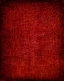 Dark Red Cloth. Old vintage red cloth with a screen pattern and dark vignette Stock Photo