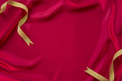 Dark red cloth and ribbon Royalty Free Stock Photo