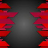Dark red corporate abstract tech background Stock Photos