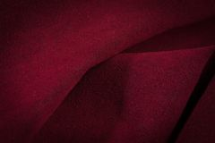 Dark red crumpled velvet Royalty Free Stock Photo