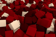 Dark red cubes. 3d cg volumetric dark red cubes background Royalty Free Stock Images
