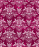 Dark red damsak texture. Abstract seamless dark red  texture with white damask pattern Royalty Free Stock Images