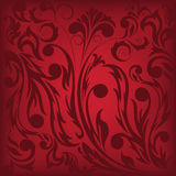 Dark red floral background. Which can be used as seamless Stock Photography