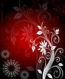 Dark red floral background. Abstract background of white floral elements on dark red backdrop Royalty Free Stock Photography