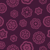 Dark red flowers pattern. Dark red flowers of different types Stock Photos