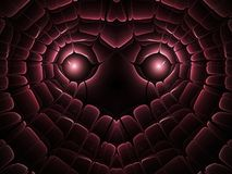 Dark red fractal heart Stock Photo