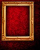 Dark red frame luxury and borders set design decoration pattern and glowing vintage frame on red