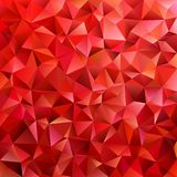 Dark red geometric abstract triangle tile pattern background - polygon vector graphic from colored triangles Royalty Free Stock Photo