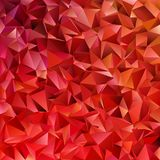 Dark red geometrical abstract tiled triangle pattern background  Royalty Free Stock Image