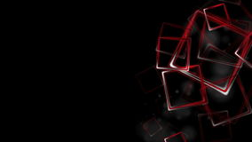 Dark red glossy squares abstract video animation stock footage