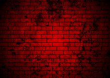 Dark red grunge brick wall background Stock Photo