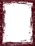 Dark red Grunged border Royalty Free Stock Photography