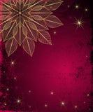 Dark Red Grungy Christmas Frame Stock Photo