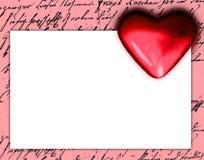 Dark red heart Stock Photo