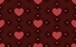 Dark red hearts pattern Royalty Free Stock Photo