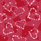 Dark red hearts seamless pattern Stock Photos
