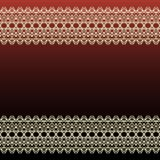 Dark Red Invitation Card with Abstract Pattern and Blank Horizon. Tal Stripe Label. Vector Illustration Stock Images