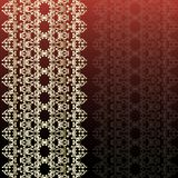 Dark Red Invitation Card with Abstract Pattern and Blank vertica. L Stripe Label. Vector Illustration Royalty Free Stock Images