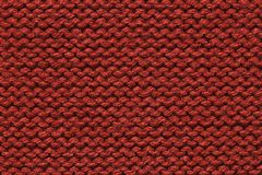 Dark Red knitting wool texture for pattern and background Stock Images