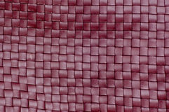 Dark red leather texture closeup. Royalty Free Stock Photos