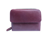 Dark red leather wallet Stock Photo