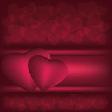 Dark red love background Stock Image