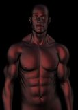 Dark red male torso Royalty Free Stock Photos
