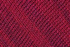 Dark red melange stockinet as background Stock Photo