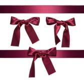Dark-red multiple ribbon Stock Photography