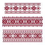 Dark red national latvian ornament royalty free illustration