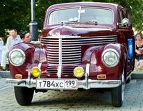 Dark Red Opel Kapitän 1939 on exhibition parking Stock Photography