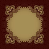 Dark red patterned background Royalty Free Stock Photography