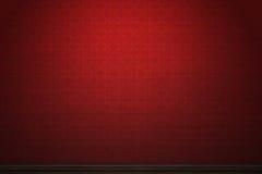 Dark red patterned vintage wallpaper Stock Image