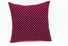 Dark red pillow for decorate. Dark red soft pillow for decorate Stock Photos