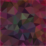 Dark red pink low poly geometric shapes pattern background. Dark red pink low poly background Stock Images
