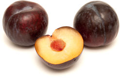 Dark red plums Royalty Free Stock Images